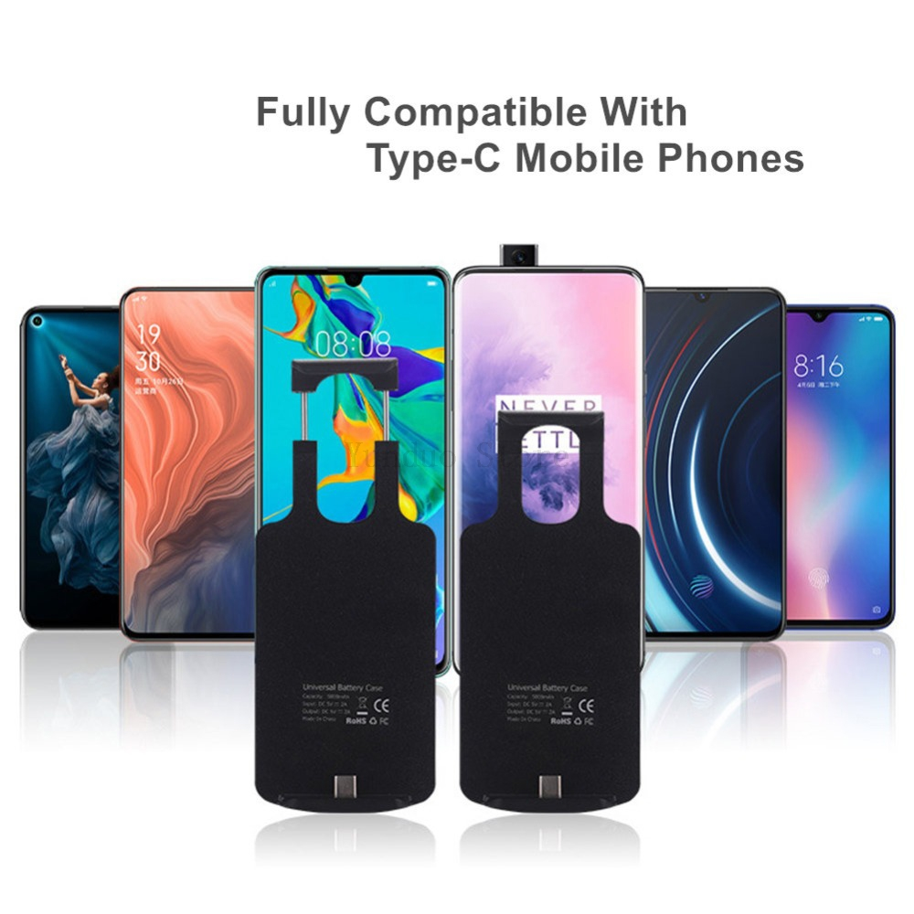 5000mAh <font><b>Battery</b></font> <font><b>Case</b></font> For <font><b>Xiaomi</b></font> <font><b>Mi</b></font> 8 9 SE Mix 2s 2 <font><b>3</b></font> Max 2 Portable External Backup Pack for <font><b>Xiaomi</b></font> <font><b>Mi</b></font> 5X 6 6X Redmi <font><b>Note</b></font> 8 image