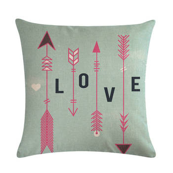 Aqua Boho Arrow Cushion Cover