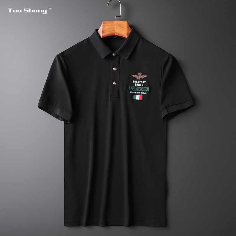 Mens US Navy Veteran Embroidery Embroidered Long Sleeve Polo Shirts Men Shirts