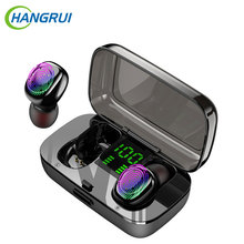 New IPX6 Waterproof Wireless Earphones for Swimming TWS Bluetooth Earphone Mini Sports Touch Earbuds Earplug with Charger Box 2018 bluetooth 5 0 tws earphones with charge box ipx6 touch cordless earbuds invisible stealth mini ecouteur true wireless yz213