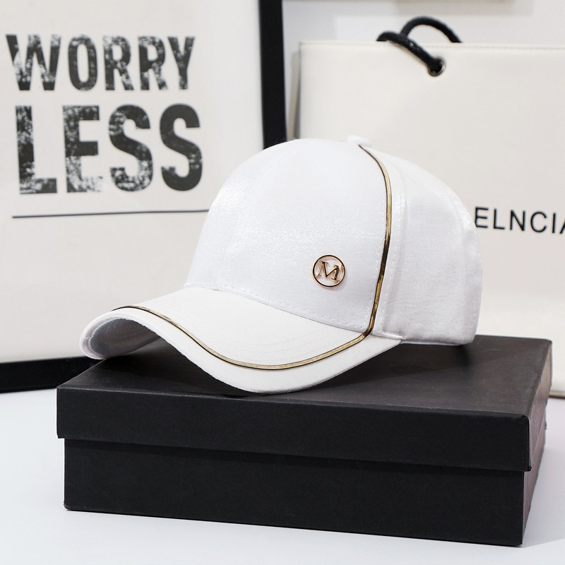 New Women Baseball Cap Female Solid Color Outdoor Adjustable White Pink Black Embroidered Women's Hats Summer Letter MD Sunhat03