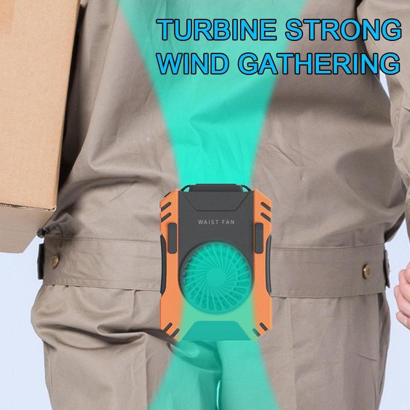 Silencioso recarregável mini pendurado ventilador da cintura