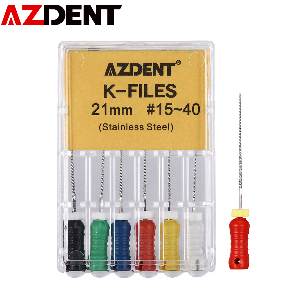 21mm K-Flies Stainless Steel Dental  Endodontic Root Canal Hand Use File Root Canal File