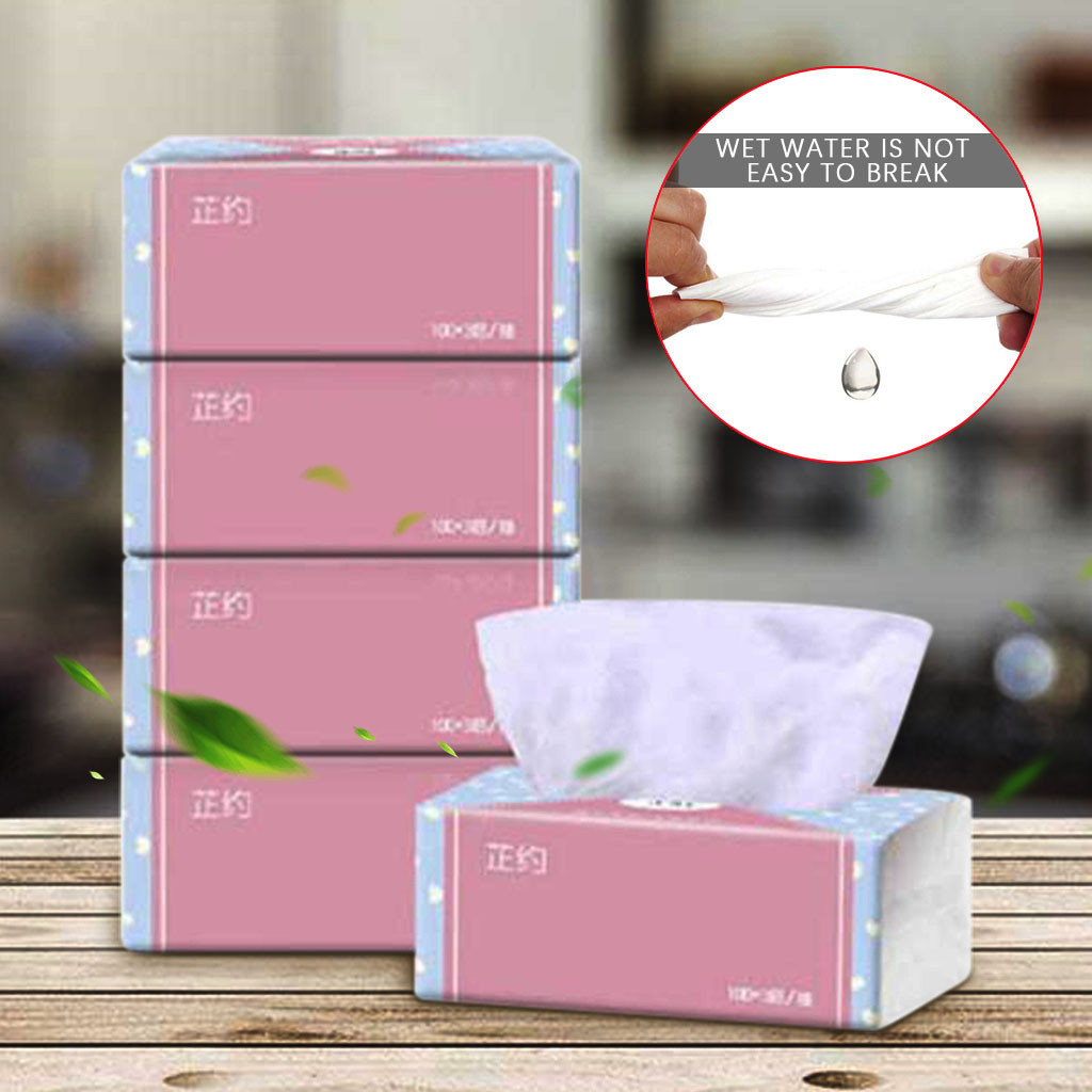 Log Pumping Paper 4 Packs Of Pumping Paper Towels Baby Paper Towels Household Alcohol Wet Wipe Disposable Disinfection Sanitizer