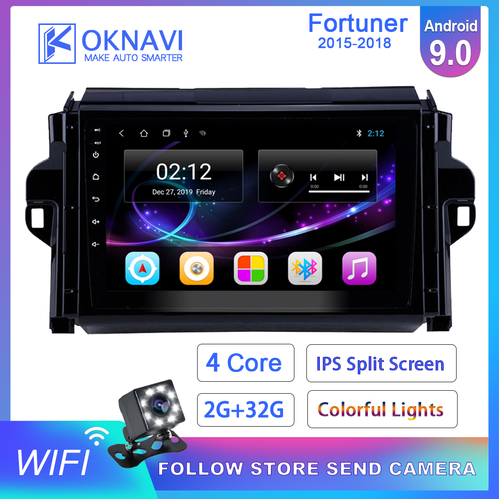 Android 9,0 2 Din Dash <font><b>Auto</b></font> Radio Multimedia Video DVD Player <font><b>Auto</b></font> Stereo Gps Karte 9 Inch <font><b>F</b></font>ür Toyota-<font><b>f</b></font> Fortuner 2015-2018 OKNAVI image