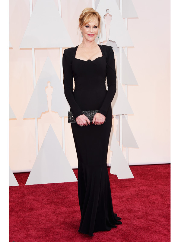 Sexy Melanie Griffith Black Robe De Soiree 2018 Square Neck Full Floor Length Sea-maid Evening Gown Mother Of The Bride Dresses