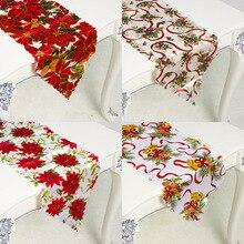 Navidad t bandera mantel de mesa de Ma decoración de fiesta casera Santa Claus tapiz corredores de la tabla de