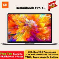 Xiaomi-ordenador portátil RedmiBook Pro 15, Intel Core i7-11370H/i5-11300H, 16 + 512GB, MX450, 15,6 pulgadas, Notebook 3,2 K FHD