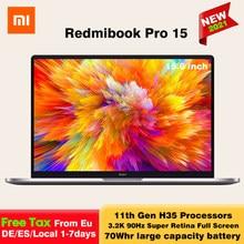 Новейший xiao Mi RedmiBook Pro 15 ноутбук с процессором Intel Core i7-11370H/i5-11300H 16 + 512 ГБ MX450 15,6 дюймовый ноутбук Mi 3,2 K FHD экран компьютерами