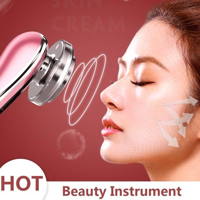 Fotón LED caliente para cuidado de la piel, máquina de belleza EMS, masajeador de vibración Facial, dispositivo limpiador de Estiramiento Facial, belleza del cuidado de los ojos, instrumento 2