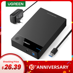 Ugreen HDD корпус 3,5 2,5 SATA для USB 3,0 адаптер внешний жесткий диск Корпус ридер для SSD диск коробка-чехол на hdd HD 3,5 HDD корпус