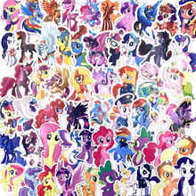 92pcs PVC My little pony stickers princess unicorn cartoon theme pull box pegatinas car motorcycle wall graffiti sticker toys