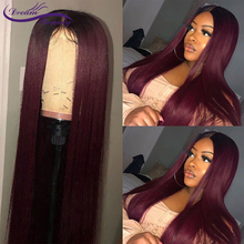1B/Burgundy 13x4 Lace Front Wigs With Baby Hair 360 Lace Frontal Wigs Straight Brazilian Remy Hair Wigs PrePlucked Full Lace Wig