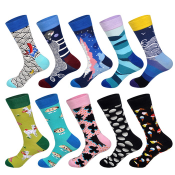 LIONZONE 10Pairs/Lot Newly Colorful Men Socks Flower Animal Food Football Basketball Diamond Plaid Stripe Business Dress Socks 20pcs lot 10pairs 2sb1559 2sd2389 b1559 d2389