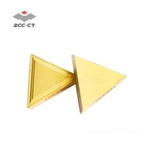 Image 1 - 10 adet ZCC freze kesicisi ekleme TPMR160304 YBC251 ZCCCT karbür cnc makinesi aracı ucu TPMR 160304 TPMR321 çelik