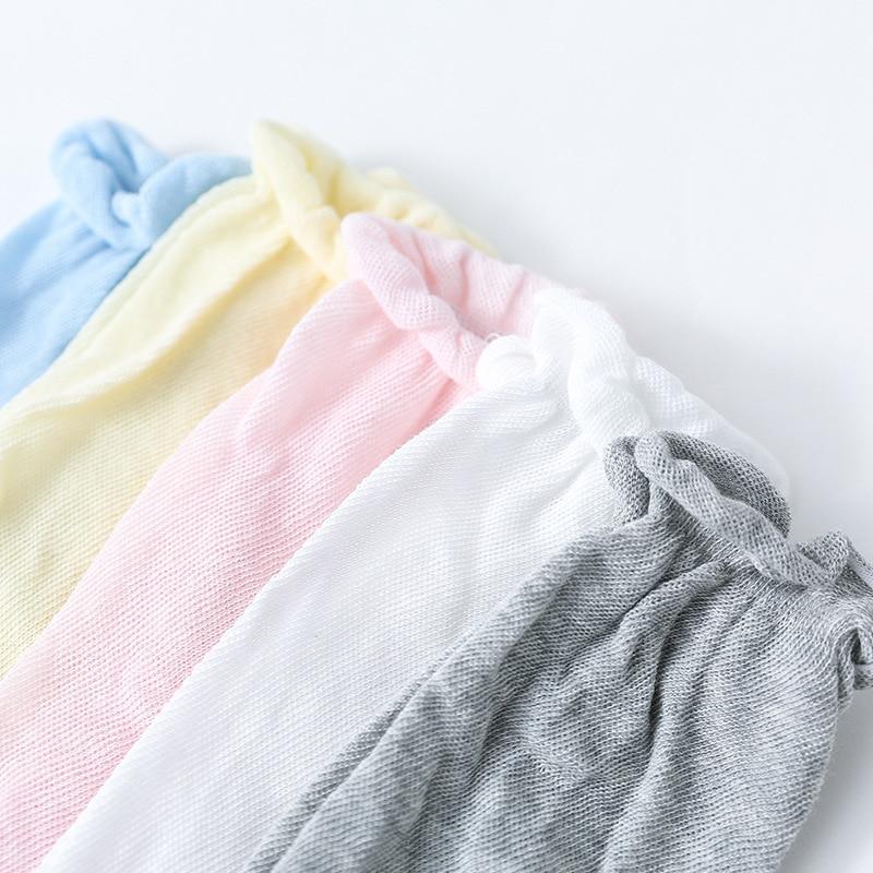 Купить с кэшбэком Summer Cotton Children's Mesh Socks Baby Knee Length Long Socks Big Belly Loose Type Breathable Mosquito Proof Mesh Long Sock