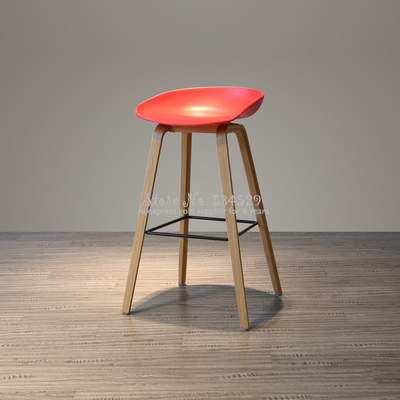 30%2B Nordic Modern Minimalist Bar Chair Home Retro High Chair Solid Wood Rotating Bar Chair Back High Stool