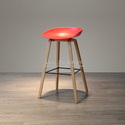 30%2B Nordic Modern Minimalist Bar Chair Home Retro High Chair Solid Wood Rotating Bar Chair Back High Stool