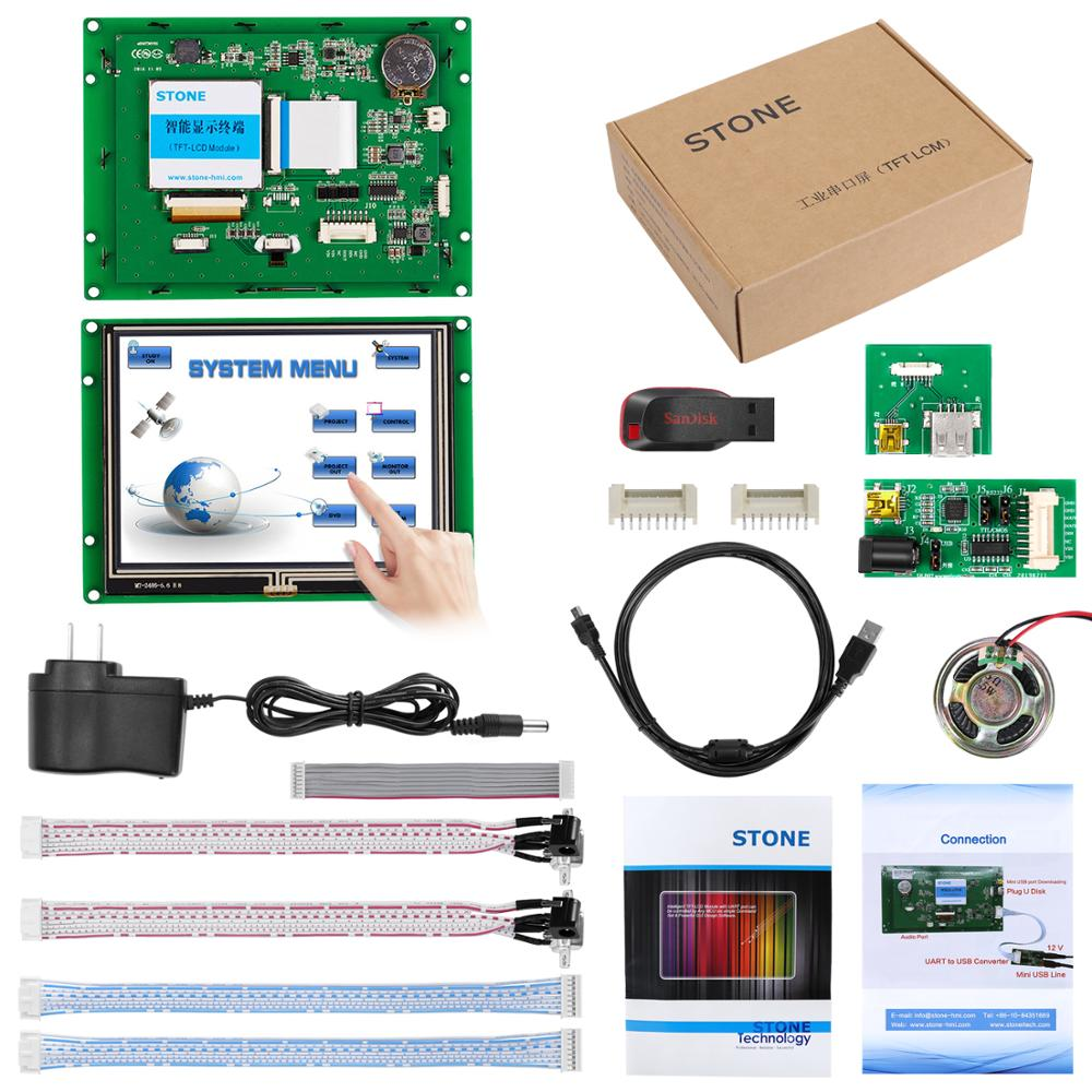 5.6 Inch HMI TFT Touch Screen With Controller Board + UART Port + Program For Industrial Use