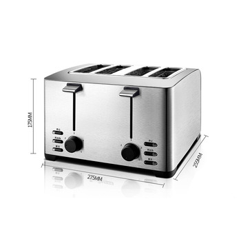 Automatic Toaster Household Toast Machine 4 Slices Breakfast Machine Toaster Stove Equipment THT-3012B 4