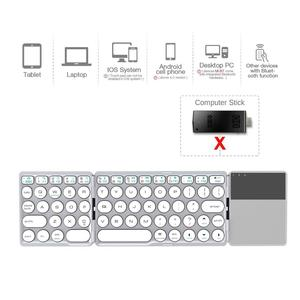 Image 4 - AVATTO NEW B033 Portable Bluetooth Folding Mini Keyboard,Foldable BT Wireless Touchpad Keypad For IOS/Android/Window ipad Tablet