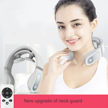 Neck Massager Mini Shoulder and Neck Pulse Physiotherapy Instrument Neck  Health Care Instrument Cervical Massager multifunction neck physiotherapy massager cervical massager electromagnetic shock pulse cervical physical therapy instrument