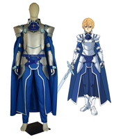 New Anime Sword Art Online Alicization SAO Eugeo Synthesis Cosplay Costume Knights Outfit Halloween Costumes for Women/Men