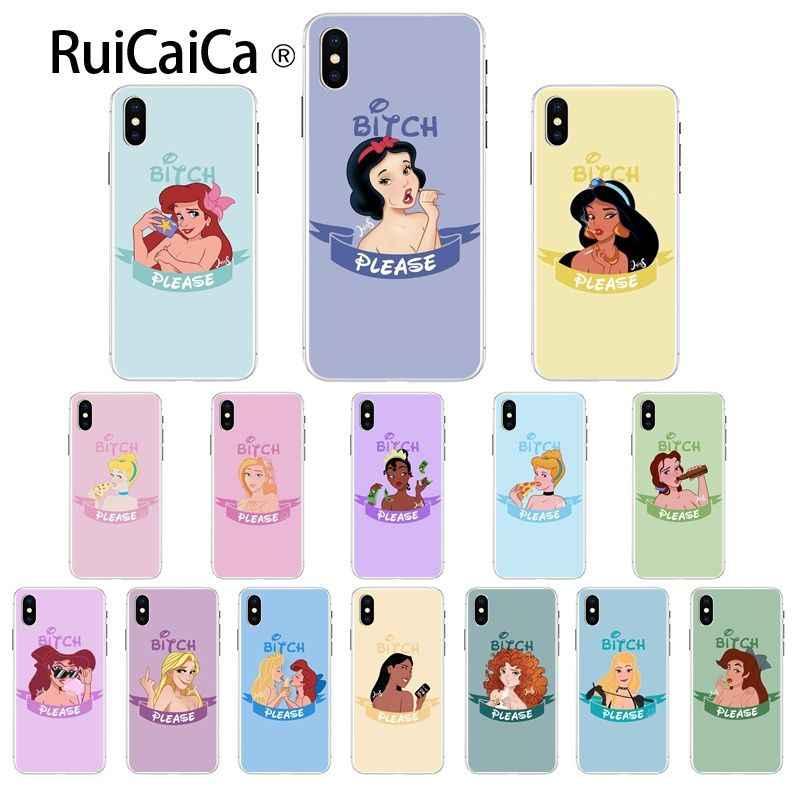 Ruicaica Princess White Snow Alice Jasmine Belle Soft Phone Case ...