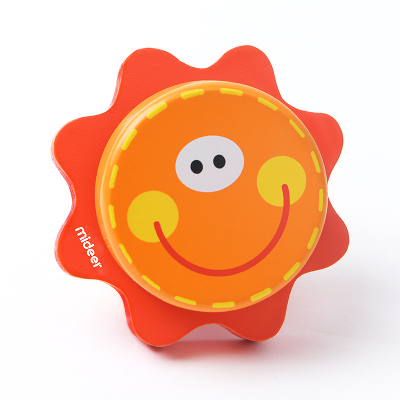 MiDeer Mi Deer Wood Shape Color Cognitive Sun Hand Castanets Baby Children'S Educational Toy Aged 1-2 Years