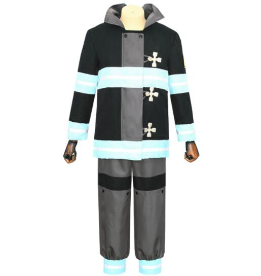 Anime Enn No Shouboutai Fire Force Uniform Shinra Costume Tamaki Maki Firefighter Halloween Outfit with hat Cosplay