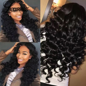 Image 5 - Glueless Pre Plucked 13*4 Lace Front Human Hair Wigs With Baby Hair Brazilian Remy Hair Deep Wave Lace Front Wig Bleached Knots