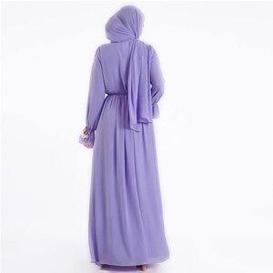 Image 2 - Eid Vestidos muslim fashion Hijab Dress Abaya dubai Turkey islamic clothing Caftan Kaftan Moroccan Robe de roupa americana