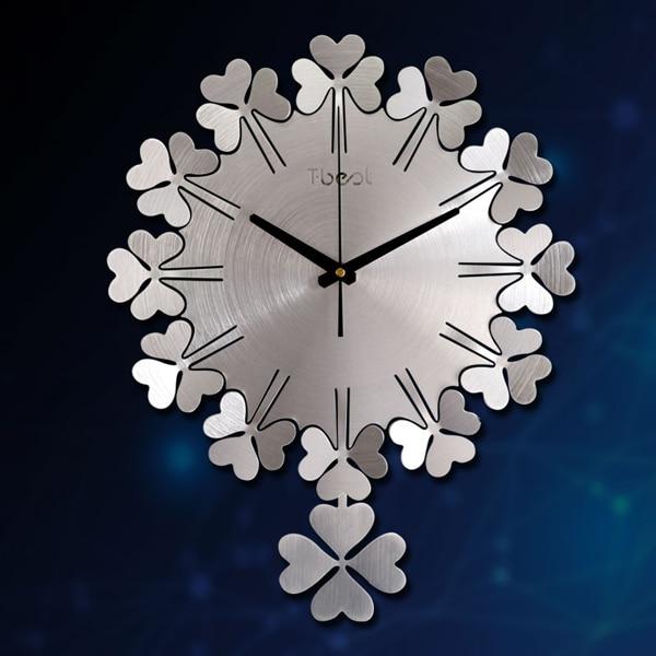 Modern Luxury 3d Wall Clock Metal  Pendulum Clock Wall Watch Mechanism Silent Living Room Creative Home Clock Klok Decor SC328