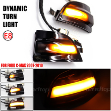 For Ford Focus 2 MK2 2004 2008 2 C MAX 2003 2007 C MAX Dynamic Flashing Turn Signal Sequential Light Indicator Blinker LED