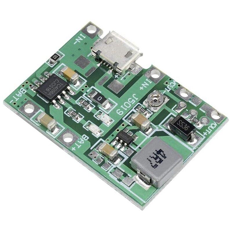 5 Pcs 2A USB 18650 Lithium Li-Ion Battery Charger Module Boost 3.7V to 5V 9V 12V