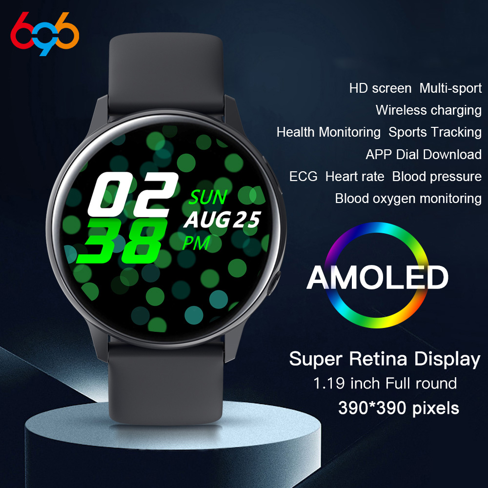 696 SG2 Full Touch Amoled 390*390 HD Screen Smart <font><b>Watch</b></font> Men Wireless Charging IP68 Waterproof Heart Rate Fashion Smartwatch <font><b>BT</b></font> 5 image