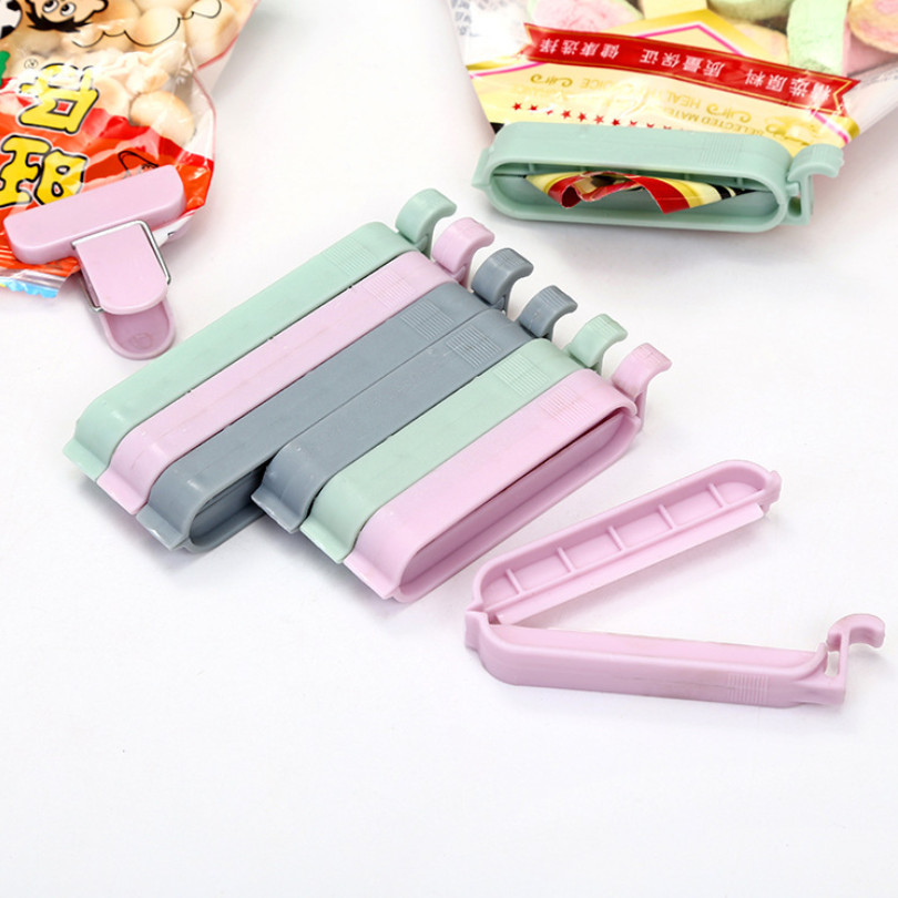 Bag Clips Snack Fresh Food Storage Bag Sealer Sealing Bag Clips Kitchen Tool 12Pcs/set