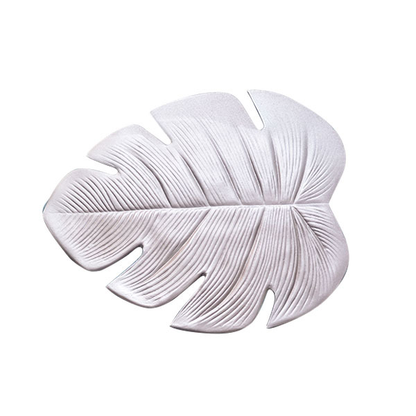 Creative PVC Placemat Simulation Plant Palm Leaf Table Mat Pink Gold Heat Insulation Waterproof Pad Home Christmas Decoration