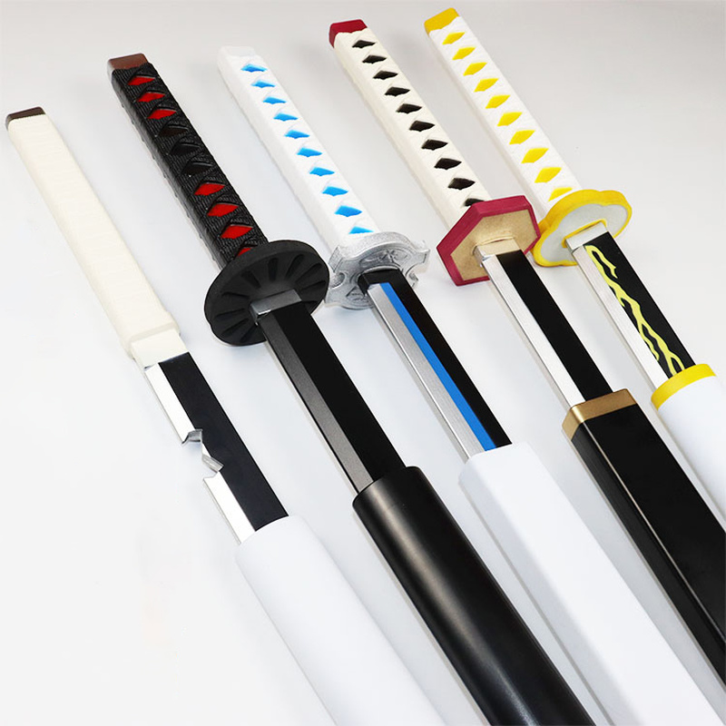 New 1:1 Pu Knife Sword Weapon Demon Slayer Devil's Blade Cosplay Samurai Sword Ninja Katana Prop Toys For Teens