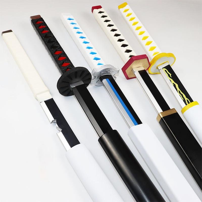 New 1:1 Pu Knife Sword Weapon Demon Slayer Devil's Blade Cosplay Samurai Sword Ninja Katana Prop Toys For Teens