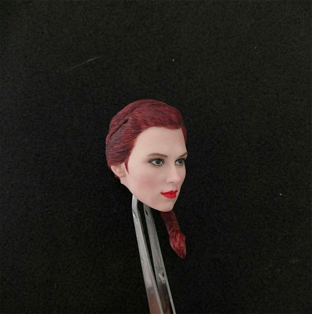 1/6 Scale Avengers 4 Black Widow Head Carved Natasha Red ...