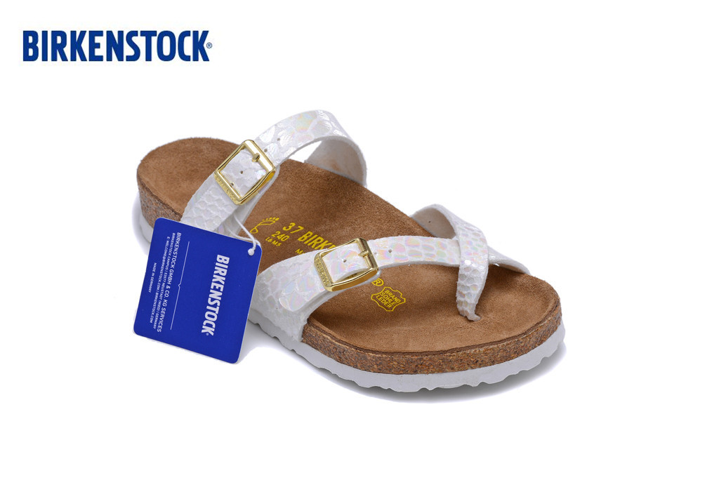 Birkenstock Hot Sale Mayari Summer Women Flats Sandals Cork Slippers Unisex Casual Shoes Print Colors Fashion Flats Size:35-40