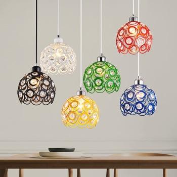 Modern Creative Crystal Decorative Restaurant Iron Base Lamp Multi-color Chandelier Hallway Living Room Chandelier