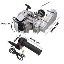 2 suwowy Pull Starter gaźnika CDI transmisji silnika uchwyt przepustnicy dla 49CC 50CC silnik Mini motor terenowy ATV motocykl