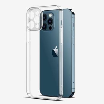 Ultra Dünne Linse Schutz Telefon Fall Für iPhone 12 Pro Max Weiche Rückseitige Abdeckung iPhone 11 Pro Max Transparent Silikon fall 12 Mini