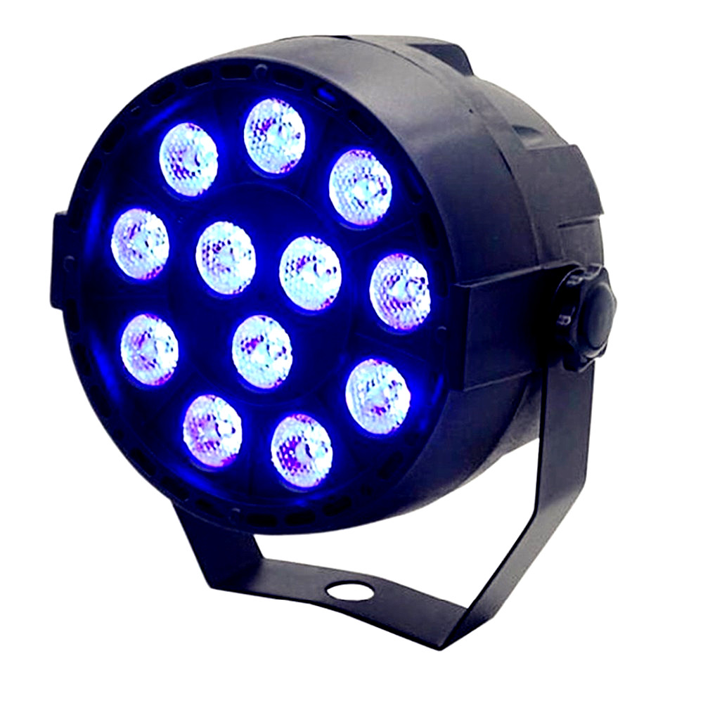 Light Par 12LED RGB 3IN1 12x4W UV Stage Lighting Effect DMX 512 Club Disco Party Dance KTV Projector Bar
