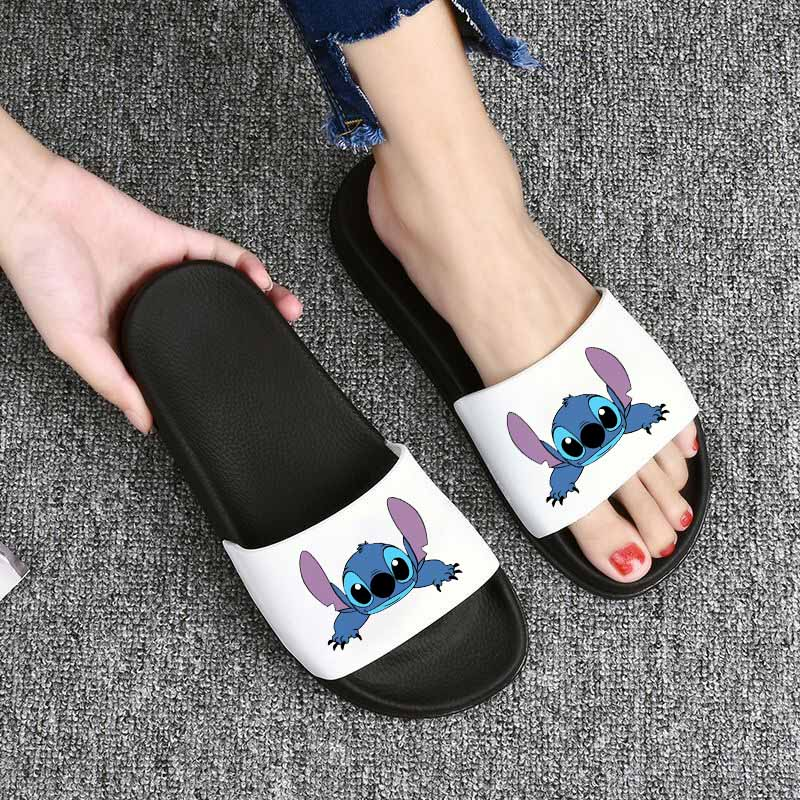 Lilo Stitch Slippers Women Home Indoor Slippers Flip Flops Women Slides Woman Slippers Summer Women Shoes Sandalias