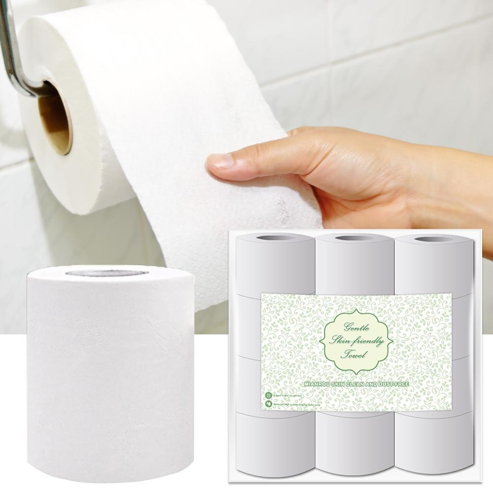 Toilet Paper Roll 3 Layer Toilet Tissue Roll Paper Soft Toilet Paper Skin-friendly Paper Towels For Home Kitchen Bathroom