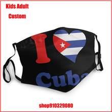 J'aime Cuba BRICOLAGE masque de protection lavable lavable masque enfants bouche masque réutilisable masque masque de bouche avec design drôle