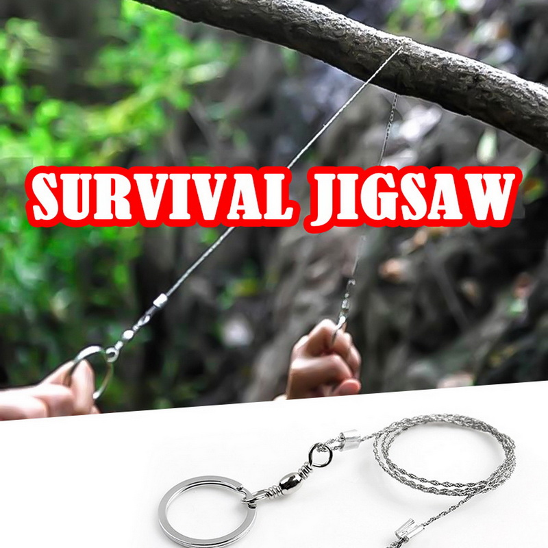 Stainless Steel Pocket Wire Saws Rope Blade Chain Outdoor Survival Tool for Camping Hiking Hunting Portable Gear Pocket Outdoor